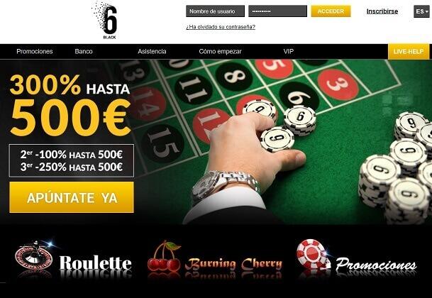 6black casino promocion