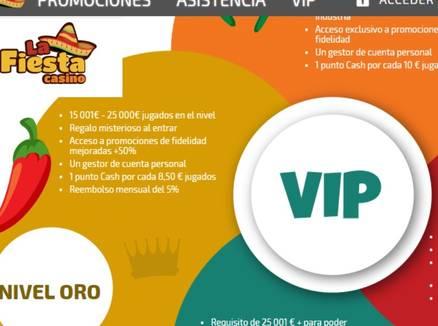 VIP Bonos de La Fiesta Casino