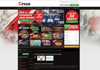 circus homepage