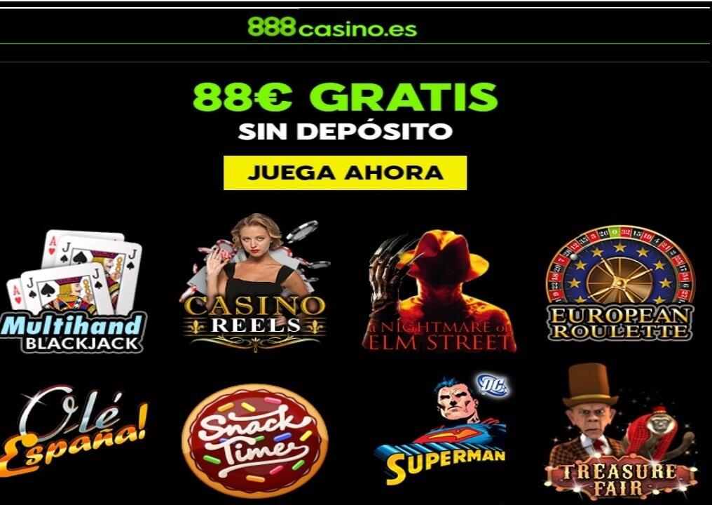 Casino 888 entrega 88 euros por registro sin depósito