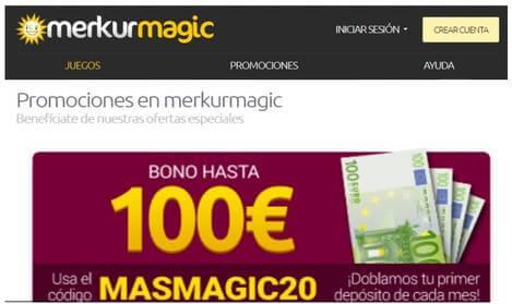 Bono de 100 euros Merkurmagic
