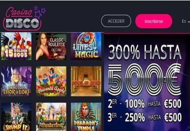Casino Disco otorga hasta 500 euros promocionales por primer ingreso